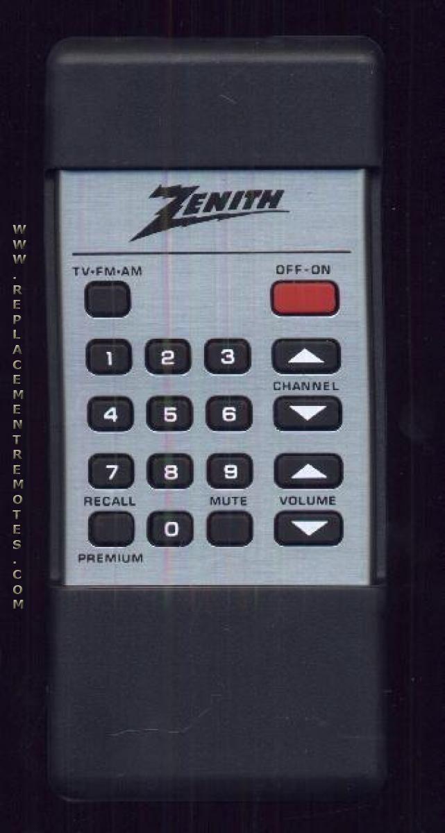 ZENITH 12412813 TV Remote Control