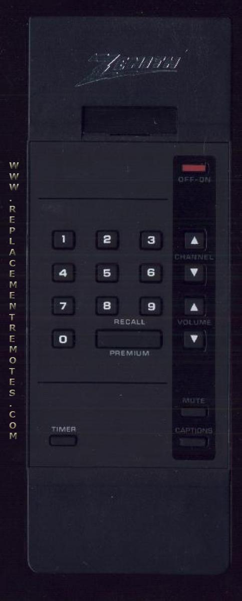 ZENITH 12415714 Remote Control