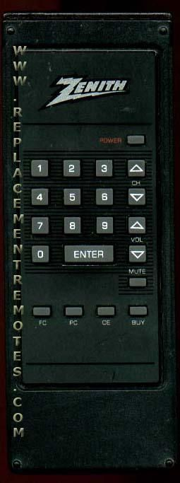 ZENITH 124179A Remote Control