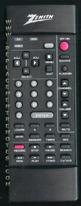 ZENITH 12419101 Remote Control