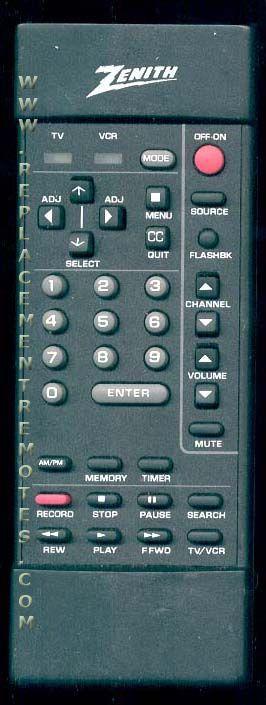ZENITH SC3820 Remote Control