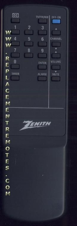 ZENITH SMS2549S Remote Control