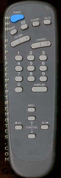 ZENITH 12421307 Remote Control