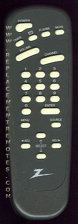 ZENITH SC3494Z TV Remote Control