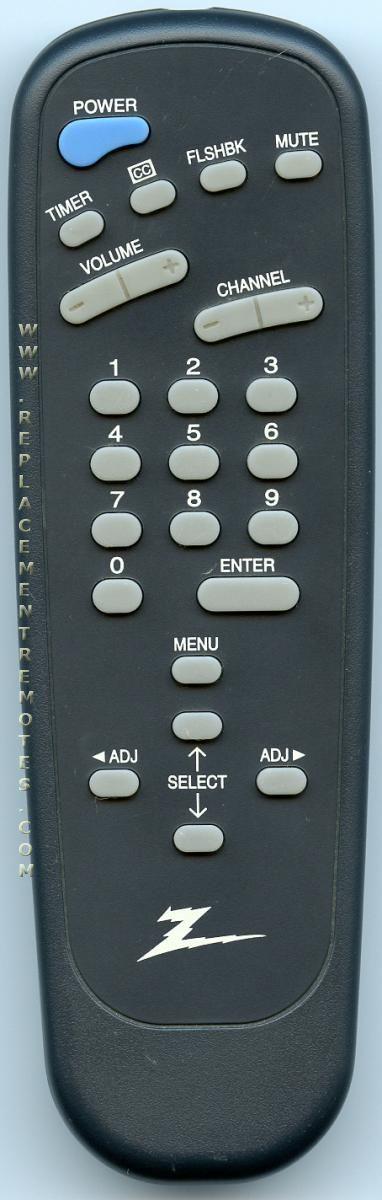 ZENITH 12421316 TV Remote Control