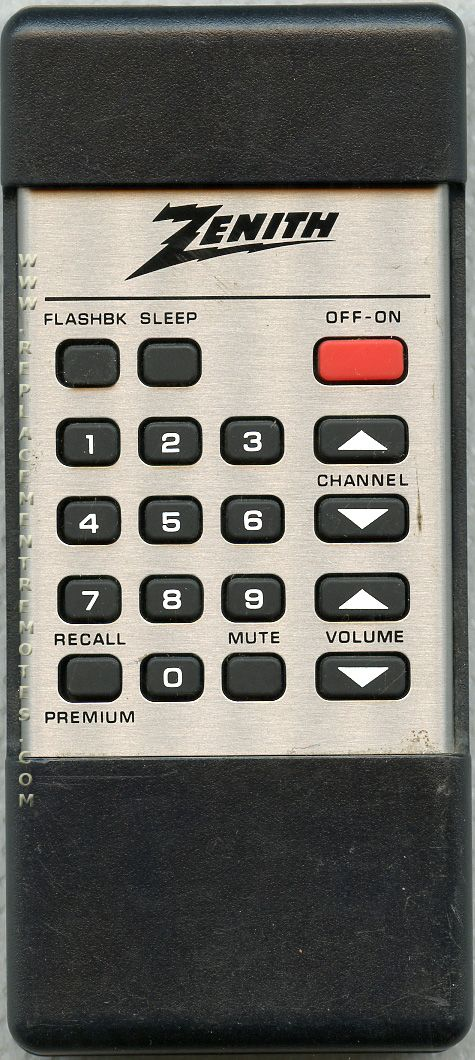 ZENITH 12412801 TV Remote Control