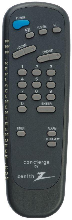 ZENITH SC652 Guest Commercial TV Remote Control
