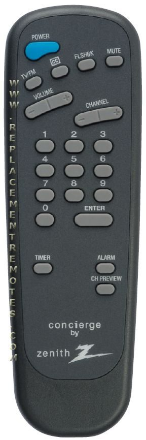 ZENITH 12421303 Guest Commercial TV Remote Control
