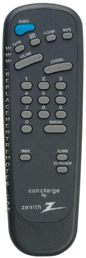 ZENITH SC692A Guest Commercial TV Remote Control