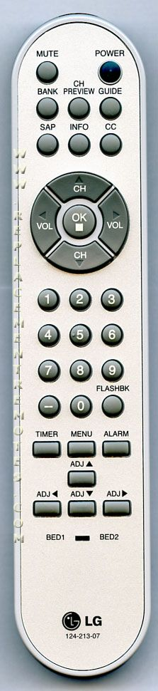 LG 82410070 Master Commercial TV Remote Control