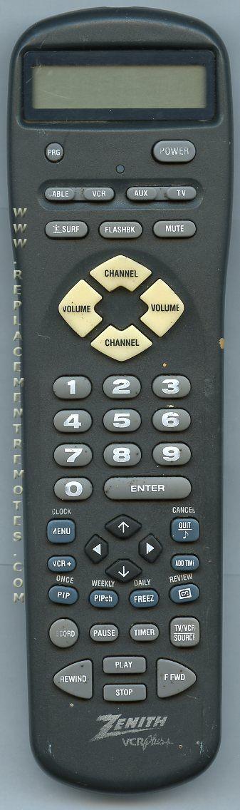 ZENITH 12421501 Remote Control