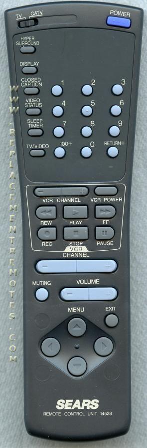 SEARS 14528 Remote Control