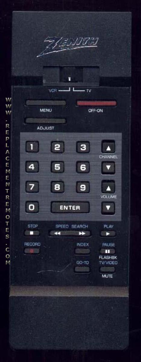 ZENITH 12414712 Remote Control