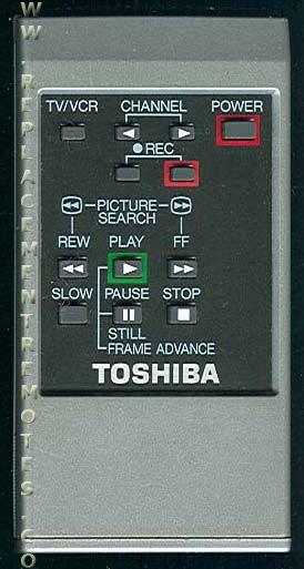 TOSHIBA 150715W VCR Remote Control