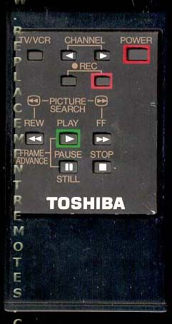 TOSHIBA 150715C VCR Remote Control