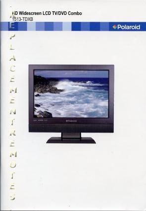 Polaroid 1513TDXBOM Operating Manual