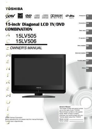 TOSHIBA 15LV505 15LV506OM Operating Manual