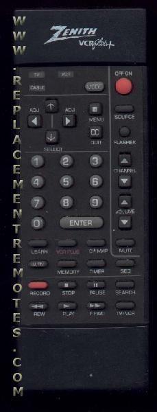ZENITH 12419105 TV/VCR Combo Remote Control