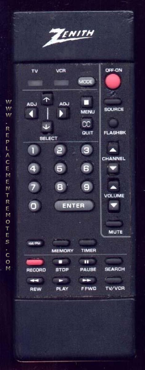 ZENITH 12419203 Remote Control
