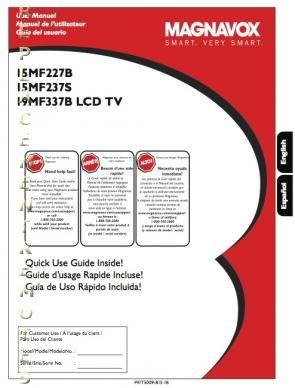 PHILIPS 19MF337BOM Operating Manual