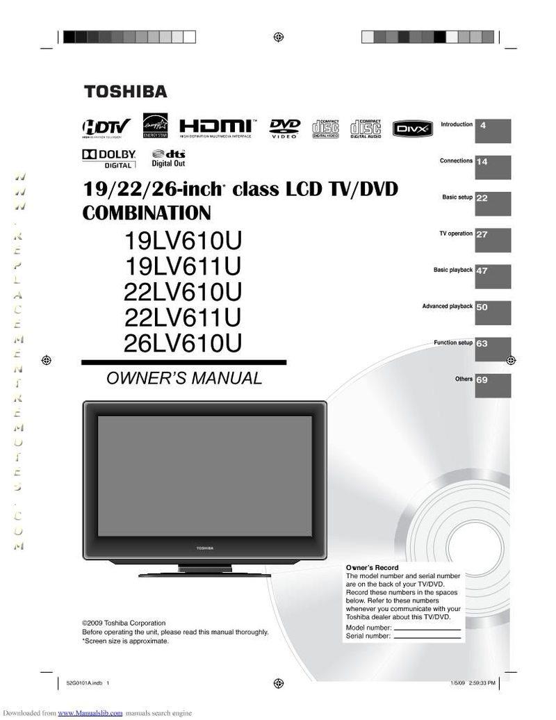 TOSHIBA 26LV61KOM Operating Manual