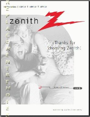 ZENITH A19A11DOM Operating Manual