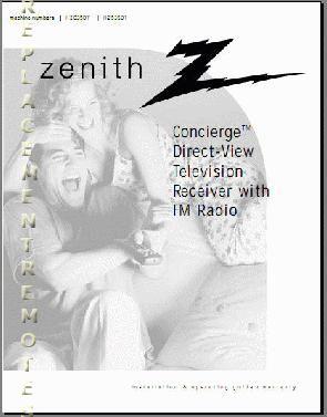 ZENITH H2035DTOM Operating Manual