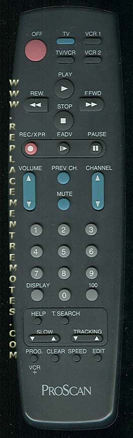 Proscan-RCA PSVR61 VCR Remote Control