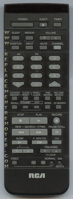 RCA VSQS1375 Remote Control