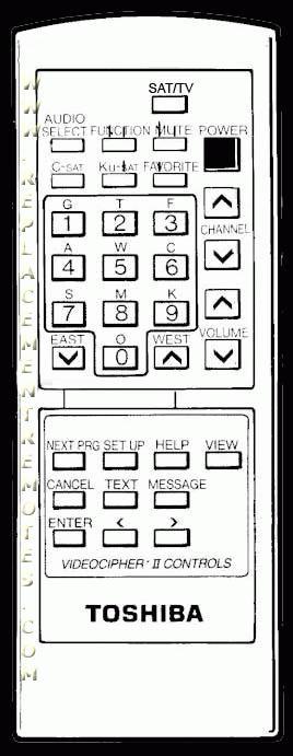 TOSHIBA 23120426 Remote Control