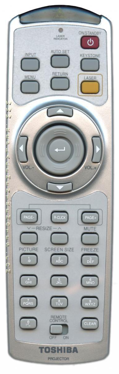Toshiba Computer 23306650 Remote Control