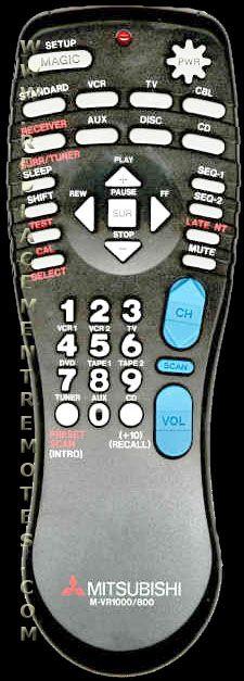 MITSUBISHI 24140334 Remote Control