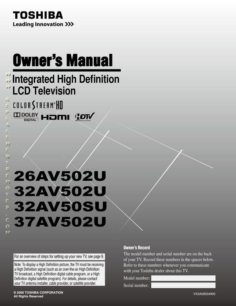 TOSHIBA 43LF421U19OM Operating Manual