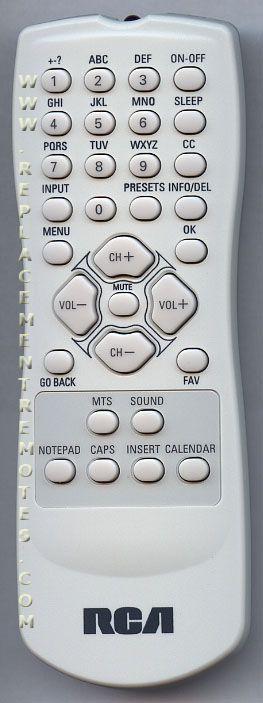RCA RCR130TB1 TV Remote Control