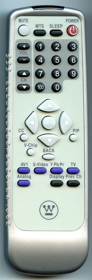 Westinghouse 271A000007 TV Remote Control