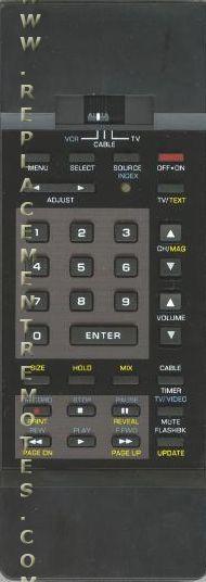ZENITH 12415633 Remote Control