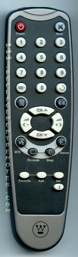 Westinghouse 290200018021 TV Remote Control