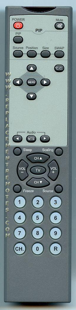 Westinghouse 290270012011 TV Remote Control