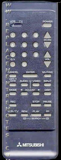 MITSUBISHI 290P004B1 TV Remote Control