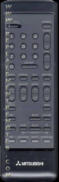 MITSUBISHI 290P005A40 TV Remote Control