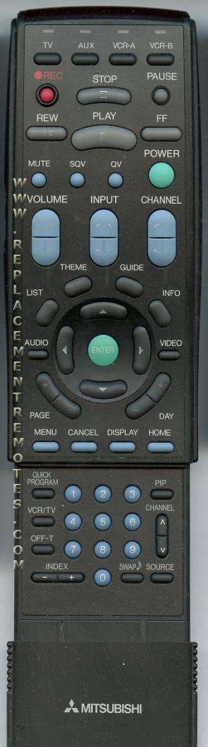 MITSUBISHI 290P034A10 Remote Control