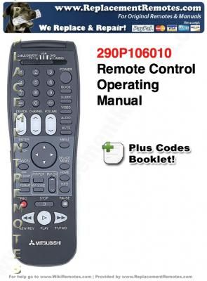 mitsubishi tv remote controls operating manuals mitsubishi remote rh replacementremotes com Mitsubishi HD 1080 Projection TV Zenith TV Remote Control Codes