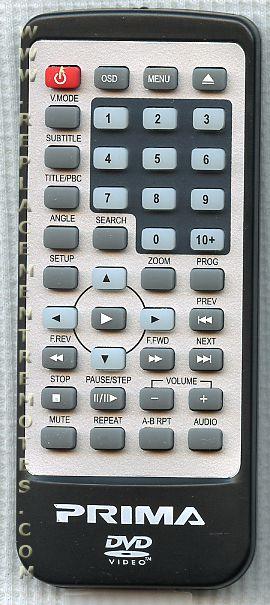Buy Prima 301 Pv5702p 301pv5702p Dvd Player Remote Control