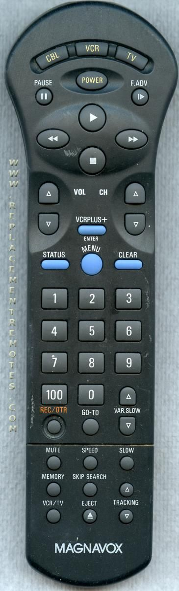 Magnavox RT8961/17 VCR Remote Control