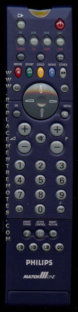 PHILIPS RC2032/01B TV Remote Control