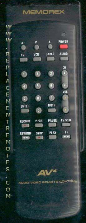 MEMOREX 32003300 TV Remote Control
