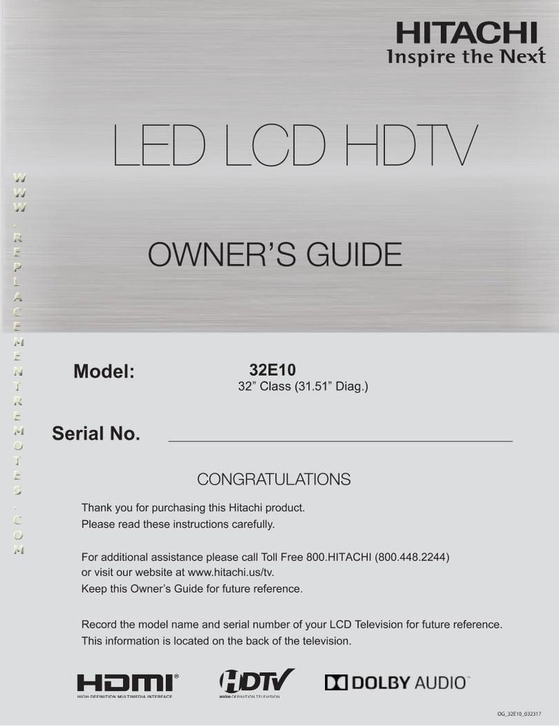 HITACHI 32E10om Operating Manual