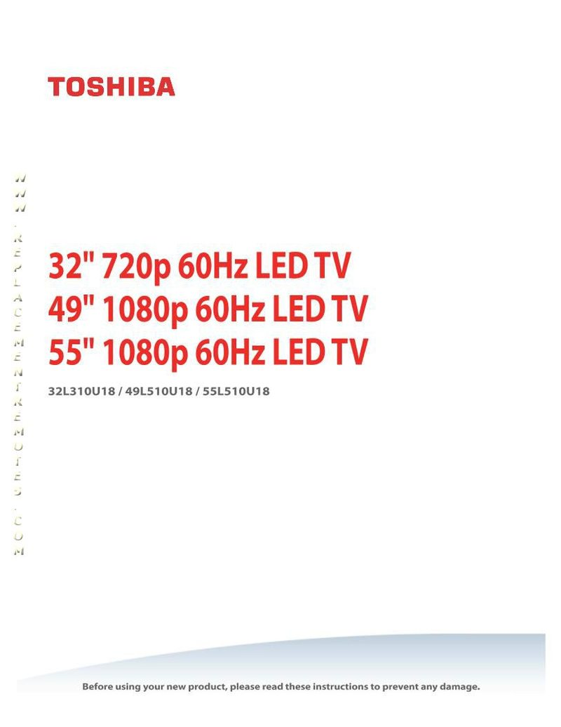 TOSHIBA 32L310U18OM Operating Manual