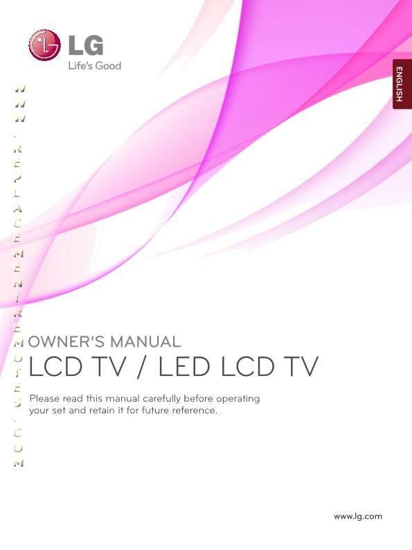LG 19LD350ZAOM Operating Manual