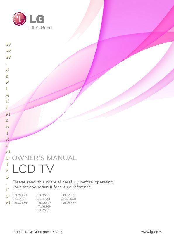 LG 32LD650HOM Operating Manual